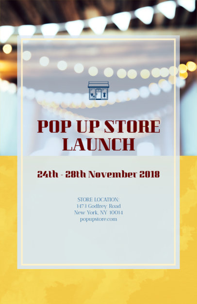 Online Flyer Maker for Store Launch 161c