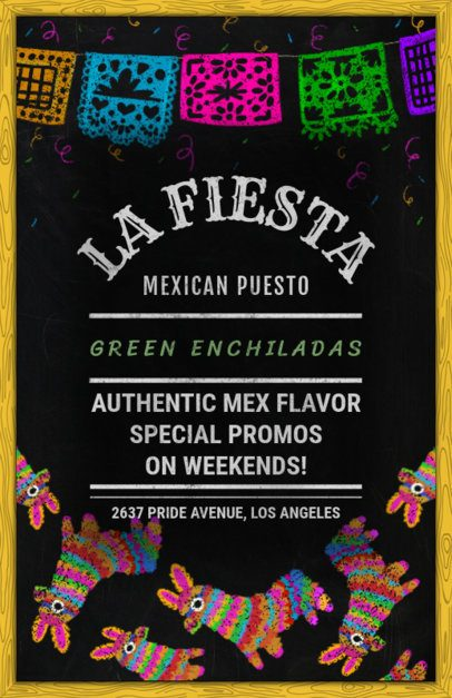 Mexican Street Food Flyer Maker 371a