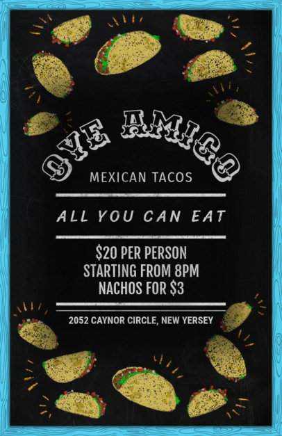 Online Flyer Maker for a Taco Restaurant 371c