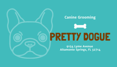 Pet Grooming Business Card Maker 298e