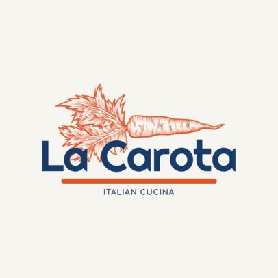 Logo Templates for Italian Restaurants with Vegetable Icons 1178a