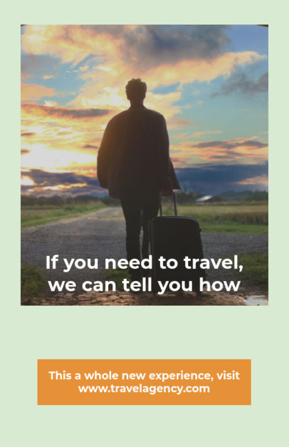 Travel Agency Flyer Maker with Photographs 333b