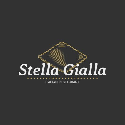 Online Logo Templates for Pasta Restaurant with Italian Icons 1178d