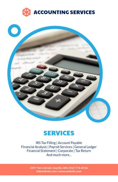 Business Flyer Maker for Accountants 375