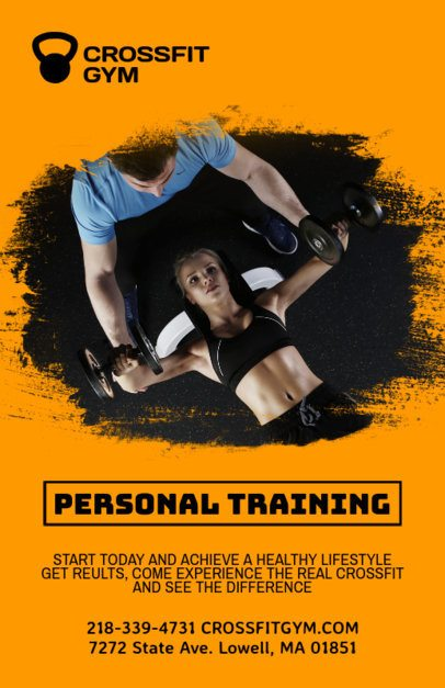 Online Flyer Template for Personal Training 339a