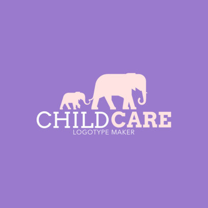 Child Care Logo Maker 1177b