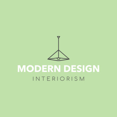 Custom Logo Maker for an Interior Designer 1209b