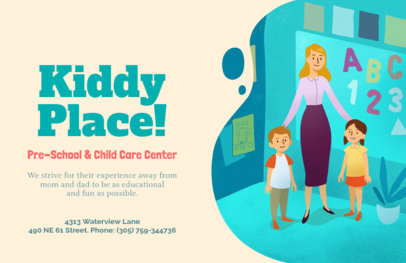 Online Flyer Maker for Child Care Centers 379a