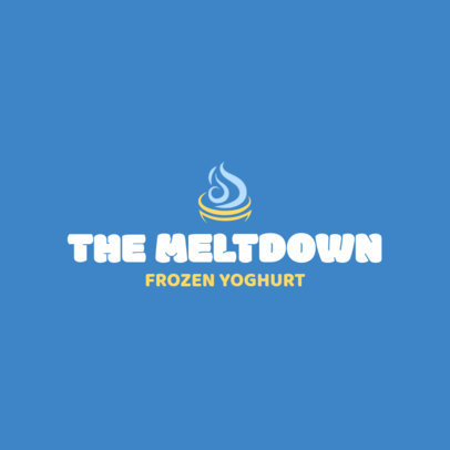 Frozen Yogurt Logo Maker Blue Theme 1241e