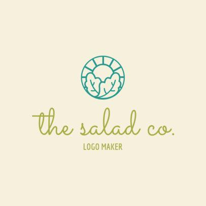 Salad Restaurant Logo Maker 1267