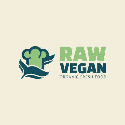 Vegan Restaurant Logo Maker 1236a