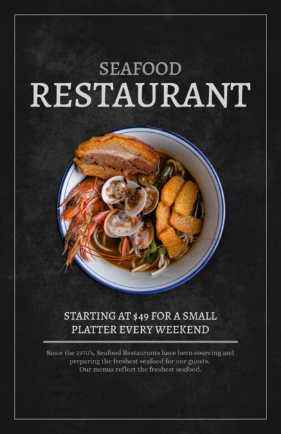 Flyer Maker for Seafood Restaurants 361