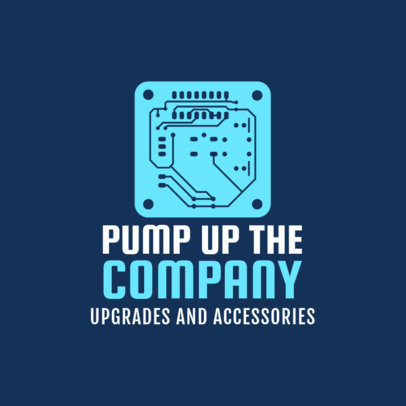 Custom Logo Maker for Computer Shops 1252f