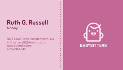 Business Card Maker for a Nanny with Brush Stroke Background 355b