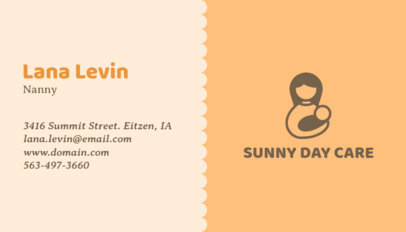 Business Card Maker with Solid Color Background with Baby Icons 355e