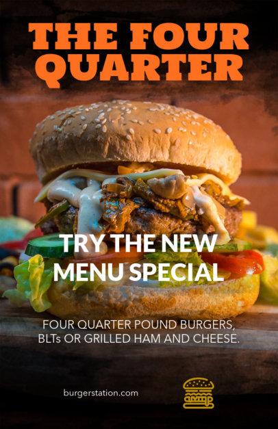 Simple Flyer Maker for a Hamburger Restaurant 359c