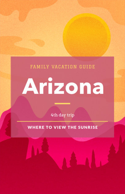 Family Vacation Online Flyer Maker 329e
