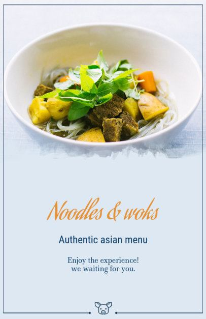Flyer Maker for Asian Food Restaurants 363d