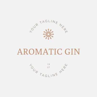 Alcohol Logo Maker for Gin Brands 1207c