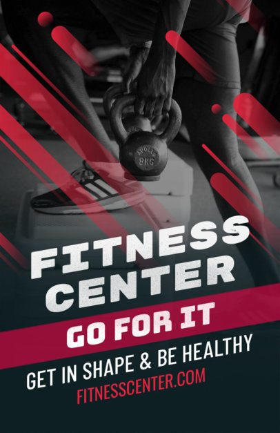 Flyer Template for a Fitness Center 353e