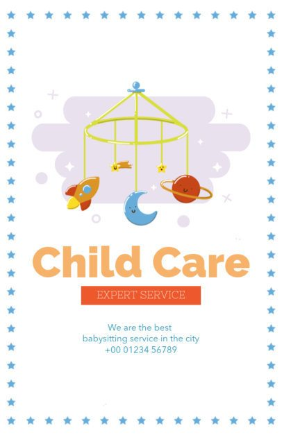 Child Care Flyer Maker with Baby Toys 343d