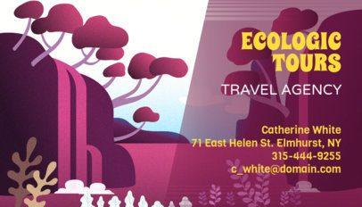 Ecotourism Business Card Maker 340b