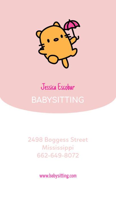 Online Business Card Maker for Babysitters 354b