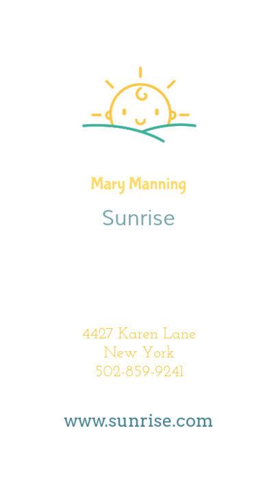 Online Business Card Maker for Nannies 354e