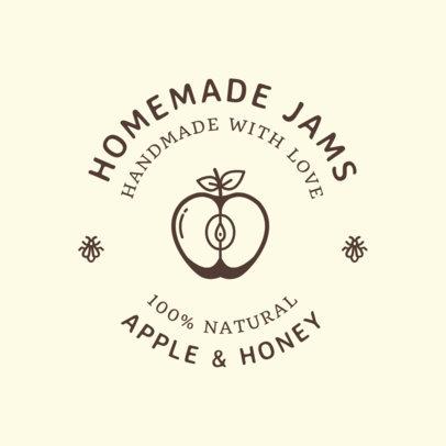 Food Logo Maker for Jam Brands 1287