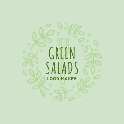 Online Logo Maker for Salad Restaurants 1234b