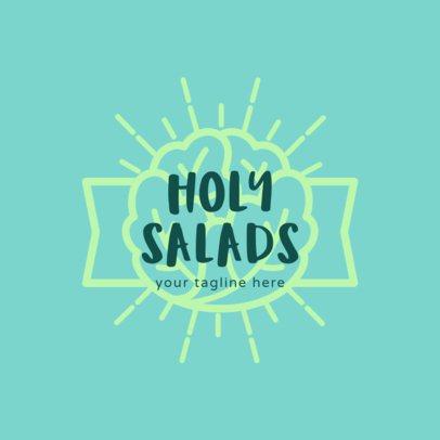 Salad Logo Maker with Lettuce Clipart 1234d