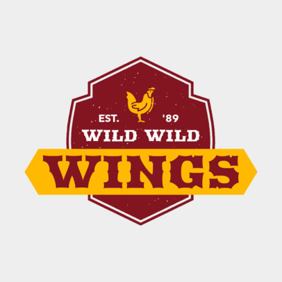 Online Logo Maker for a Chicken Wings Restaurant 1228b