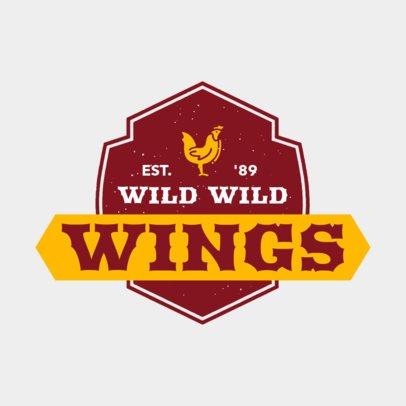 Online Logo Maker for a Chicken Wings Restaurant 1228b