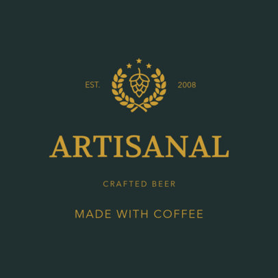 Logo Template for Craft Beer Companies with Emblems 1249c