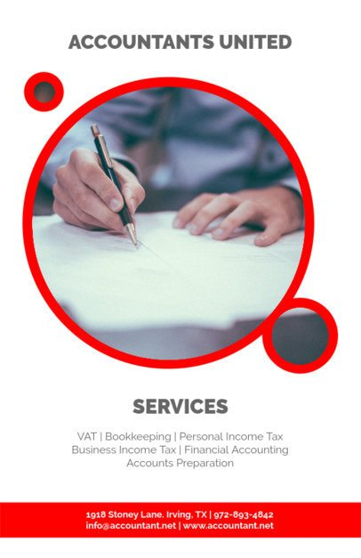 Online Flyer Maker for Accounting Firms 375d
