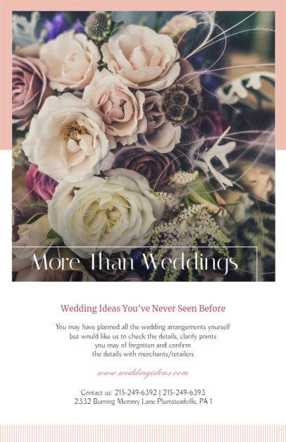 Flyer Maker for Wedding Coordinators 365e