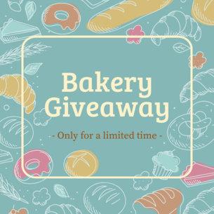 Online Banner Maker for Bake Shops with Pastry Illustrations 378d