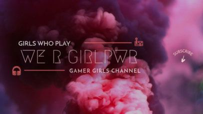YouTube Banner Maker for Gamer Girls 386b