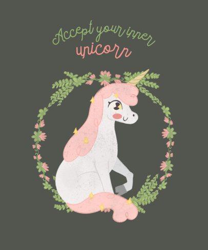 Unicorn T-Shirt Design Maker a417