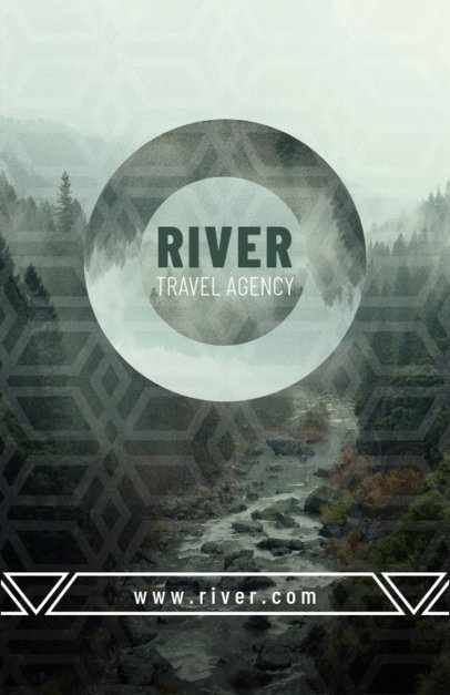 Travel Flyer Maker with Landscape Background 309a