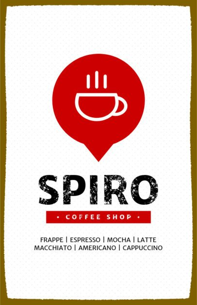 Minimalistic Coffee Shop Online Flyer Maker 390a