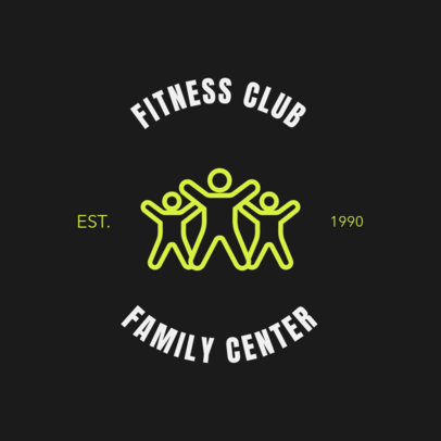 Gym Logo Maker with Line Art 1273