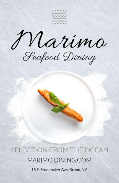 Online Flyer Maker for Seafood Diners 381b