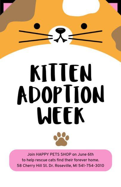 Pet Adoption Online Flyer Maker 398-d
