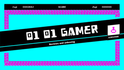 YouTube Banner Maker with Gamer Icons 393b