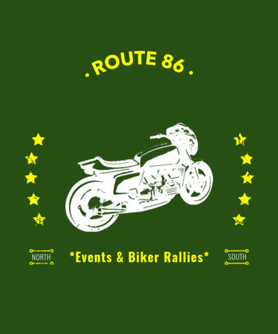 T-Shirt Design Maker for Motorcycle Events 330d