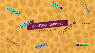 Ad Banner Maker for Youtube Channels with Crafty Videos 405d