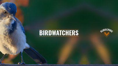 Youtube Banner Maker for Bird Channels 418e