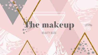 Online Banner Maker for Beauty Vlogs with Pink Background 389e