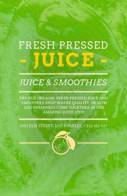 Juice Bar Flyer Maker with Long Description 410a